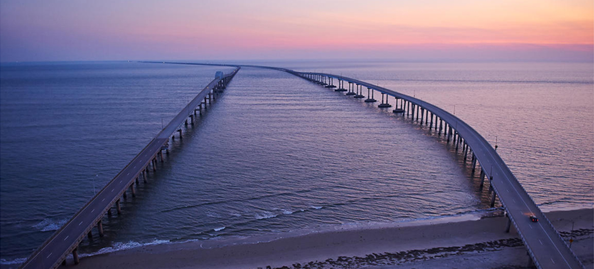 The Chesapeake Bay Bridge Tunnel, Virginia