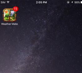 Current Temperature On Your Home Screen